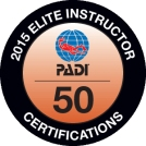 2015 PADI Elite Instructor Award